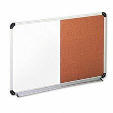 Universal Dry Erase Wall Mounted Combination Bulletin and Whiteboard