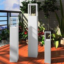 3-tlg. Windlicht-Set aus Holz und Glas