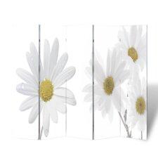 5-tlg. Raumteiler Blumen, 180 x 200 cm
