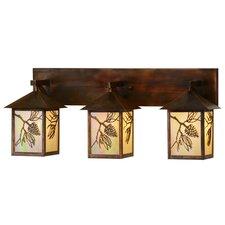 Greenbriar Oak Balsam Pine 3-Light Vanity Light by Meyda Tiffany