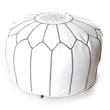 Moroccan Pouf Leather Ottoman by Beldi Nest