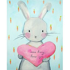 Dream a Little Dream 'Some Bunny Loves You' by Liz Clay Painting Print on Canvas