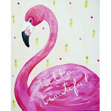 Dream a Little Dream 'Hello Beautiful ' by Liz Clay Painting Print on Canvas