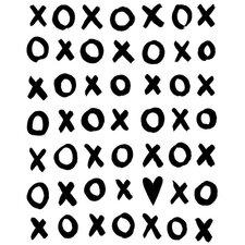 Dream a Little Dream 'XOXO' by Liz Clay Textual Art on Canvas