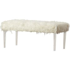 Faux Flokati Bench by House of Hampton