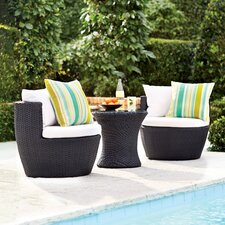 Wyler 3 Piece Lounge Seating Group with Cushion by Varick Gallery®