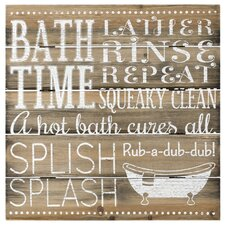 Bath Time Sign Wall Decor