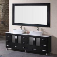 Pratt 72 Double Bathroom Vanity Set with Mirror by dCOR design