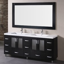 Pratt 72 Double Bathroom Vanity Set with Mirror by dCOR design