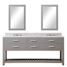 Fran 72 Double Sink Bathroom Vanity Set with Mirror by Darby Home Co