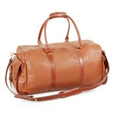 """24"""" Leather Carry-On Duffel with Side Pockets"""