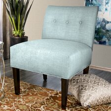 Samantha Button Tufted Slipper Chair by MJL Furniture