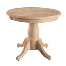 Round Pedestal End Table by International Concepts