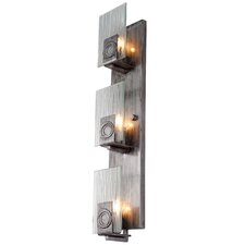 Polar 3-Light Vertical Recycled Wall Sconce