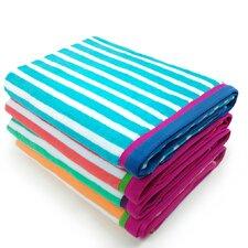 Racing Stripe Velour Beach Towel (Set of 4)