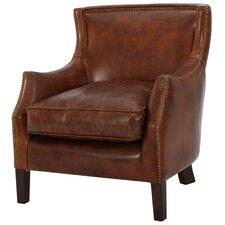 Adelbert Kraig Top Grain Leather Armchair by Darby Home Co
