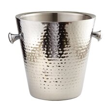 Hammered Stainless Steel Doublewall Ice Bucket