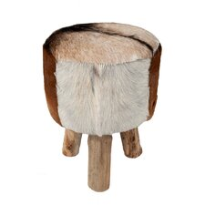 Safari Hide Drum Stool by Jeffan