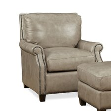 Kingston Leather Armchair and Ottoman by Palatial Furniture
