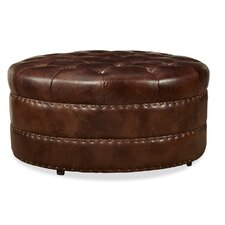 Hudson Cocktail Leather Ottoman by Palatial Furniture