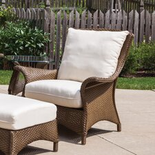 Mandalay Tortuga Stripe Lounge Chair with Cushion