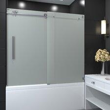 Sola Series 60 x 66 Single Sliding Tub Shower Door by Nezza