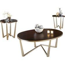 Cindy 3 Piece Coffee Table Set by Latitude Run