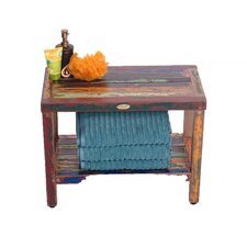 Recycled Salvaged Reclaimed Boat Wood Garden Bench by EcoDecors