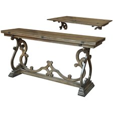 Monticello Leg Flip Out Console Table by Crestview Collection