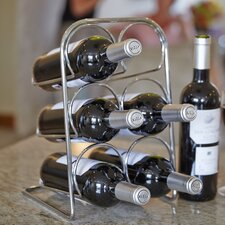 Pisa 6 Bottle Tabletop Wine Rack