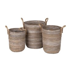 3 Piece Storage Basket Set