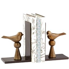 Birds and Books Bookend