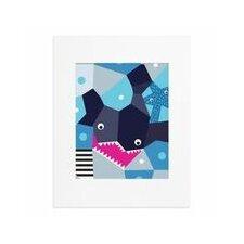 Oceanography Cubist Shark Paper Print
