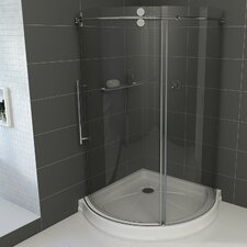 Sanibel 40 x 40-in. Frameless Round Sliding Shower Enclosure with .3125-in. Clear Glass and Chrome Hardware by VIGO