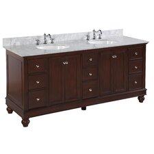 Bella 72 Double Bathroom Vanity Set by Kitchen Bath Collection