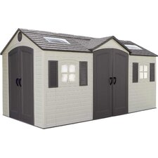 Dual Entry 8 ft. W x 15 ft. D Plastic Storage Shed
