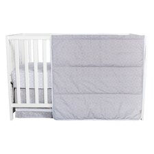 Gray Circles 3 Piece Crib Bedding Set