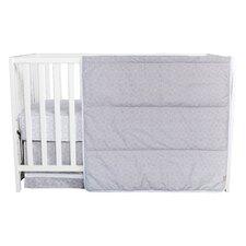 Gray Circles 3 Piece Crib Bedding Set