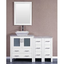 54 Single Vanity Set with Mirror by Bosconi