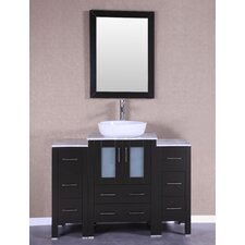 48 Single Vanity Set with Mirror by Bosconi