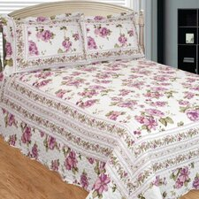 Peony Bloom 3 Piece Reversible Quilt Set