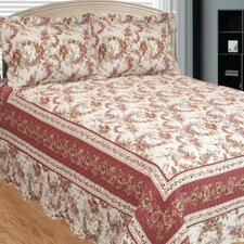 Old Rose Corona 3 Piece Reversible Quilt Set