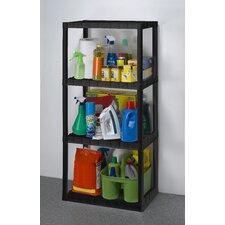 Freestanding Plastic Storage 49 H Four Shelf Shelving Rack Unit by Keter