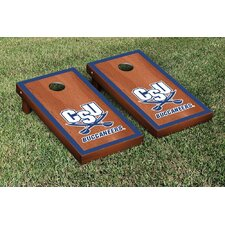 NCAA Rosewood Stained Border Version Cornhole Bag Toss Game Set