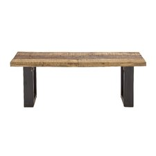 Wood and Metal Dining Bench by Cole & Grey