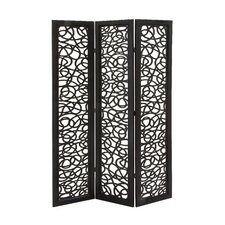 """72"""" H 48"""" W Traditional 3 Panel Room Divider"""