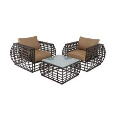3 Piece Deep Seating Group with Cushions by Cole & Grey