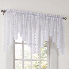 Alison Floral Sheer Lace Rod Pocket Curtain Valance
