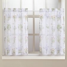 Eve's Garden Floral Print Kitchen Curtain Tier Pair