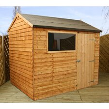 8 x 6 Wooden Overlap Reverse Apex Storage Shed